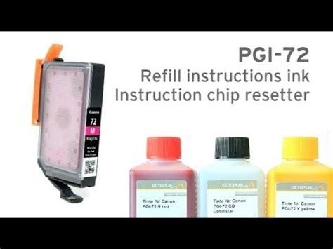 chip resetter youtube refill canon pgi 72 cartridge and chip resetter for pixma