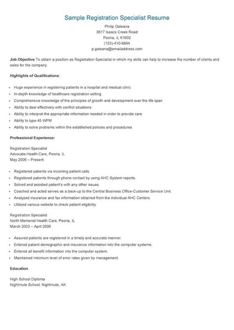 Program Specialist Sle Resume by Resume On