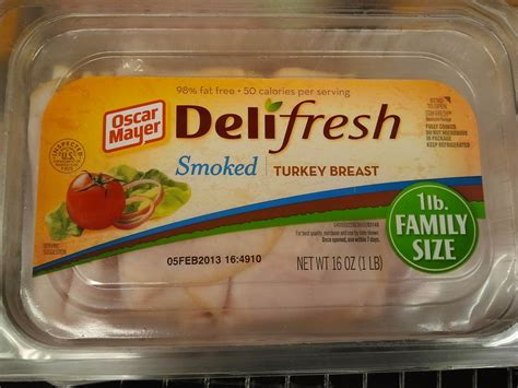 Deli Turkey Shelf common food additives in processed foods