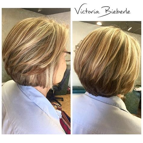 highlighted hair for women over 50 highlighted layers balayage bob hairstyle for women over