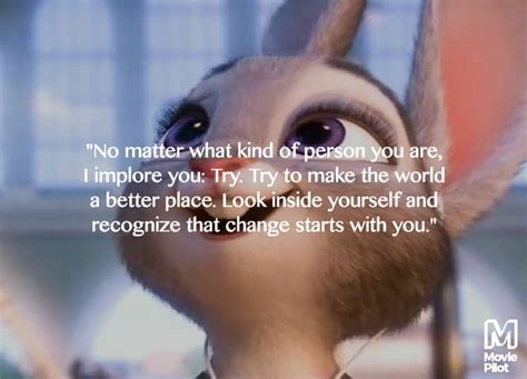 A Place Looks Stupid 9 Best Inspirational Quotes From Zootopia Moviepilot