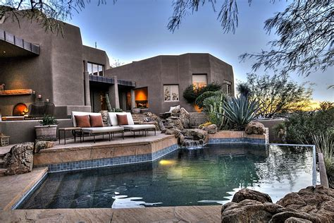 arizona desert home combines waterscaping xeriscaping and