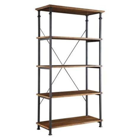 homesullivan grove place 4 shelf wide bookcase in rustic
