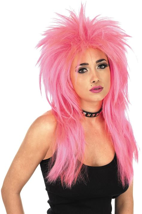 80s Wig by Unisex Glam Rock Wig Accessory For 70s 80s Fancy Dress