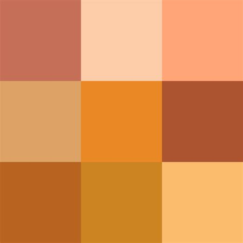 get color shades of orange