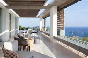 Spanish Style Homes With Courtyards modern mediterranean villa in ibiza with panoramic ocean