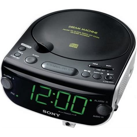 buydig sony icf cd815 am fm stereo cd clock radio with dual alarm