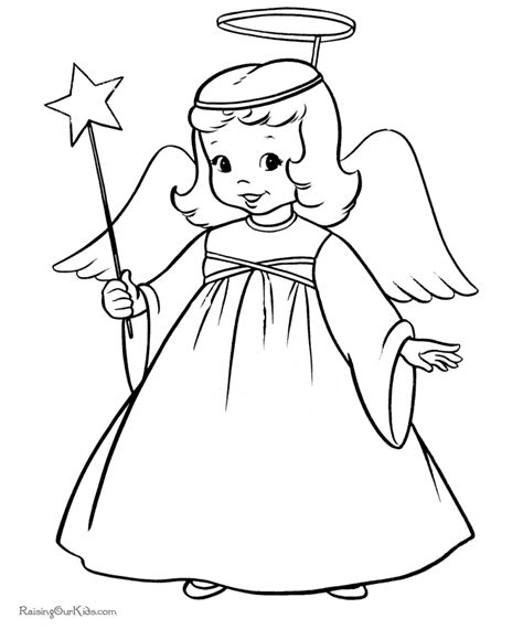 preschool coloring pages angels angel line drawing cliparts co