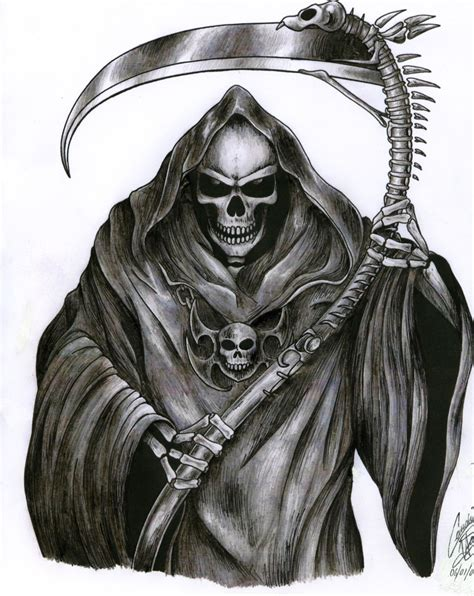 reaper tattoo design designs grim reaper drawings