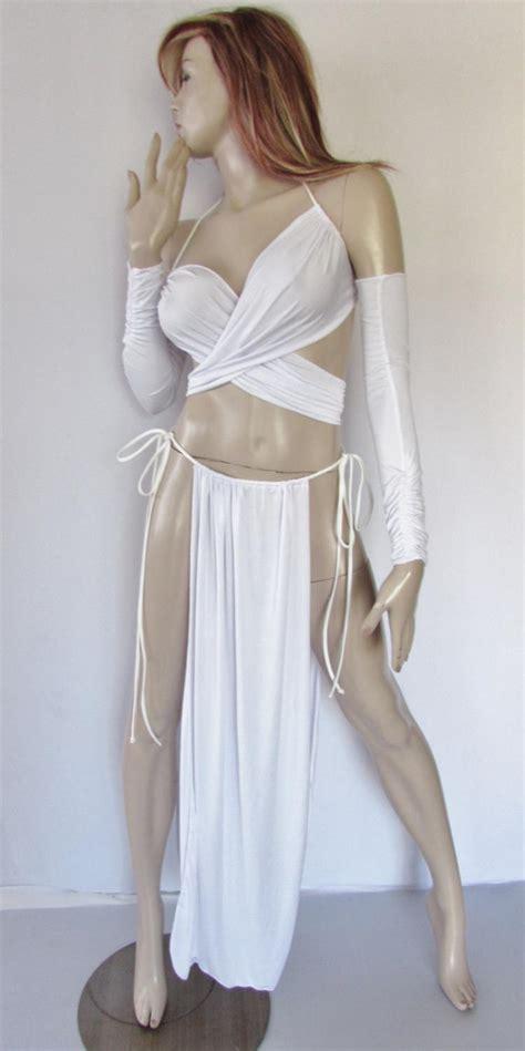 gorean slave role play costume white