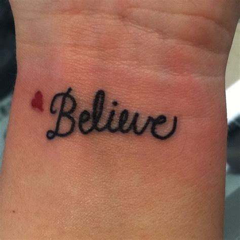 wrist tattoo believe tattoos pinterest