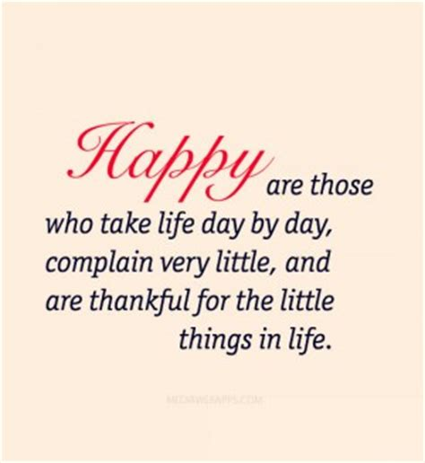 Take Life Day By Day And Be Grateful For The Little Things - thankful for the little things quotes quotesgram