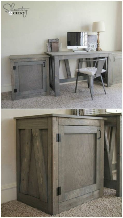 diy craft desk with storage 50 decorative rustic storage projects for a beautifully