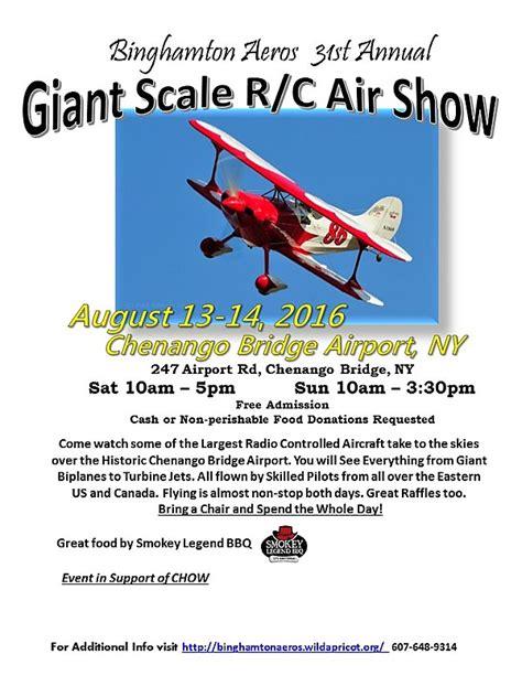 binghamton aeros st annual giant scale rc air show