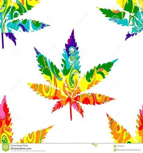 Ganja Abstact abstract cannabis seamless pattern stock vector image
