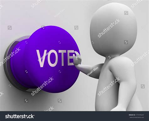 define doodle poll vote button meaning choosing electing or poll stock photo
