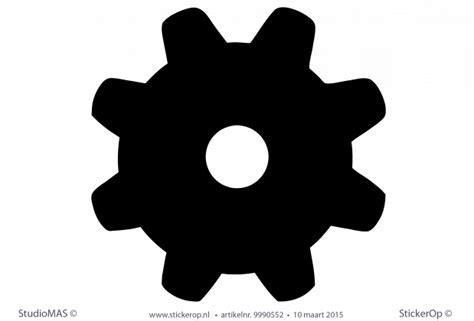 muursticker zakelijk pictogram radertje realconcepts