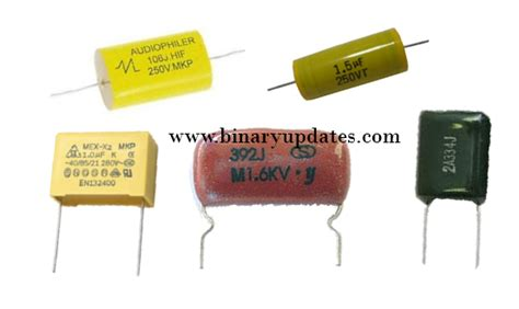 capacitor types list types of capacitors