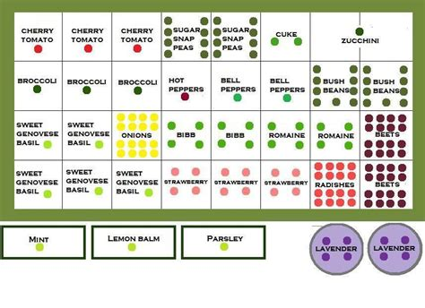 Garden Spacing - square foot garden layouts for different regions and