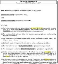Financial Agreement Template Free sample free residential lease agreement rental template