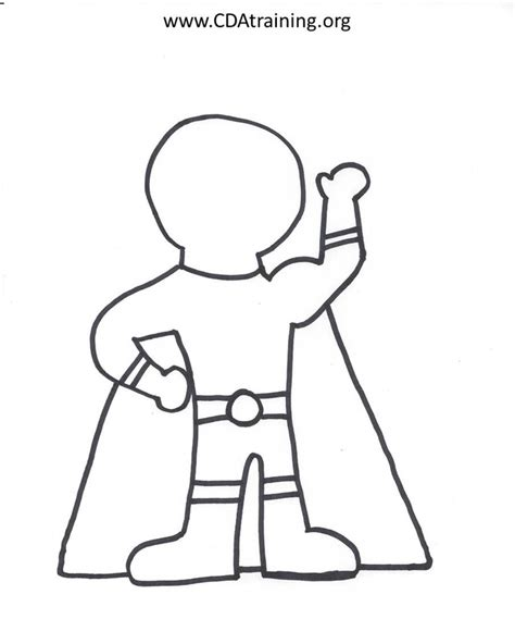 super hero costume templates coloring pages