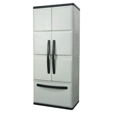 plastic cabinets home depot hdx 30 in plastic cabinet with drawer discontinued 194982