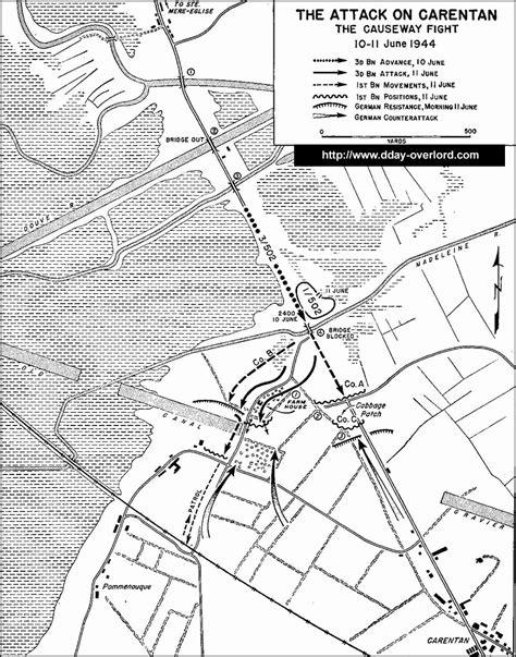 Cartes des opérations aéroportées - Normandie 1944