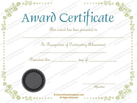 imgs for gt good job certificate template