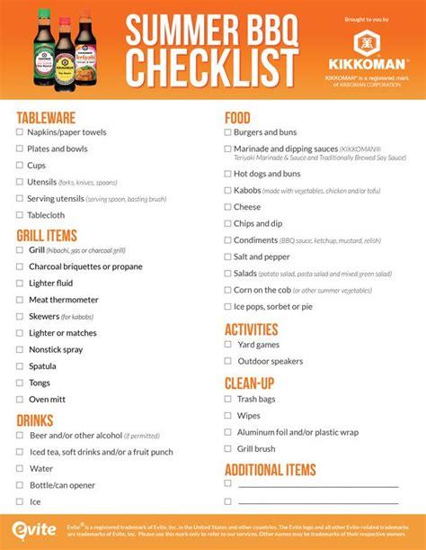 Backyard Bbq Checklist Best 25 Backyard Barbeque Ideas On