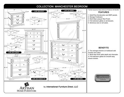 Artisan 533 Bedroom International Furniture Design Bedroom Dresser Dimensions