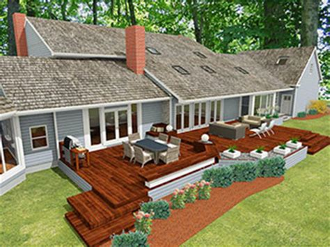 deck and patio designs ranch home deck patio design