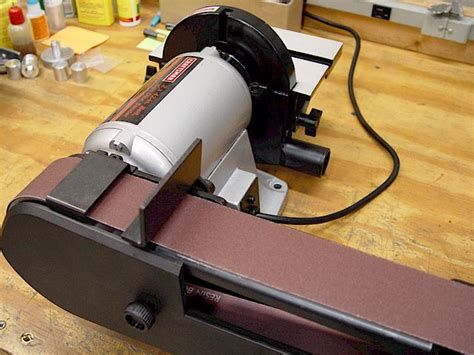 bench grinder belt sander conversion bench grinders