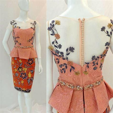 Batik Selutut Peplum model model kebaya cantik untuk inspirasi hari wisudamu nanti