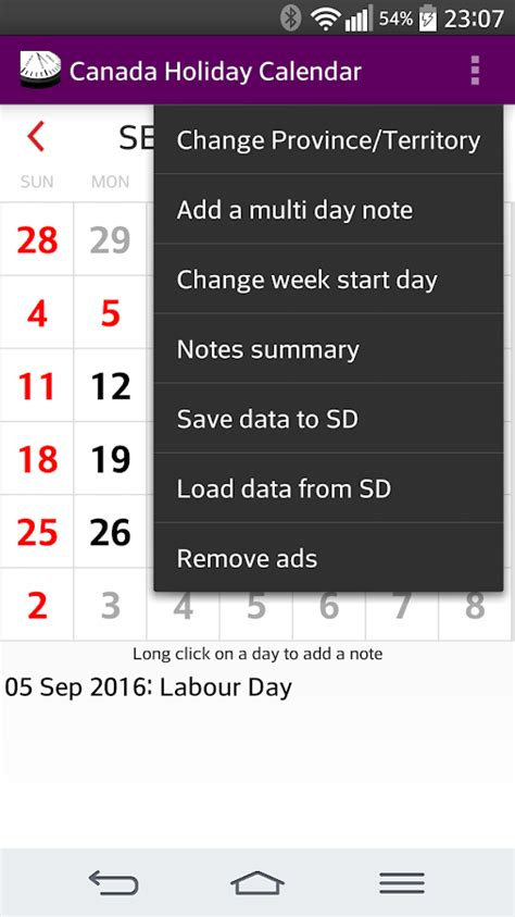 holidays and observances in canada in 2016 time and date 2016 canada holiday calendar android apps on google play