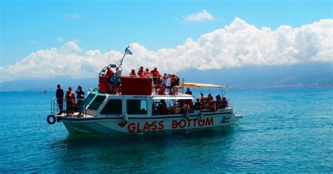 glass bottom boat cruise cruise on nemo glass bottom boat analipsi tours