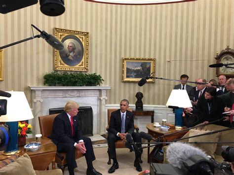 president trump oval office watch obama and trump meet at white house president