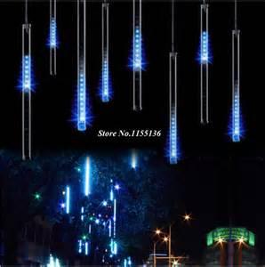 50cm 8pcs set led meteor lights led l lights flashing