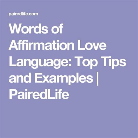 words  affirmation love language top tips  examples
