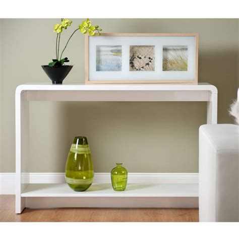 World Furniture Toscana Console Table In High Gloss White White High Gloss Sofa Table
