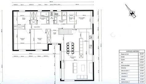 plan maison photo quot plan de maison en l 3 chambres 1 bureau quot maison