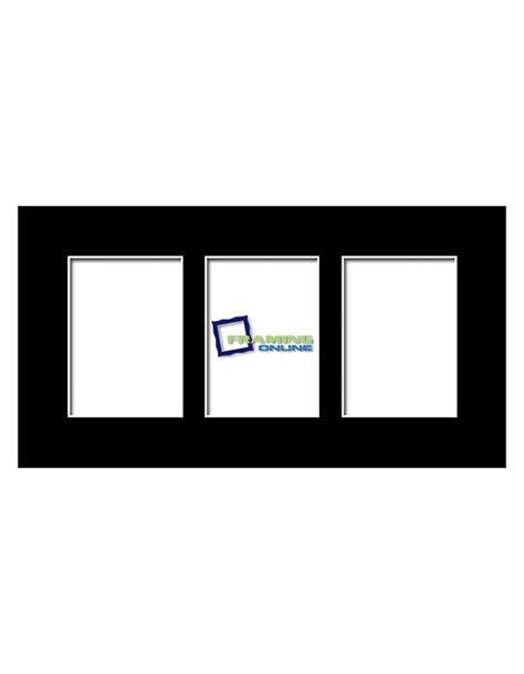 5x7 Mat by 5x7 3 Window Black Mat 5x7 Quot 3 Window Mats With