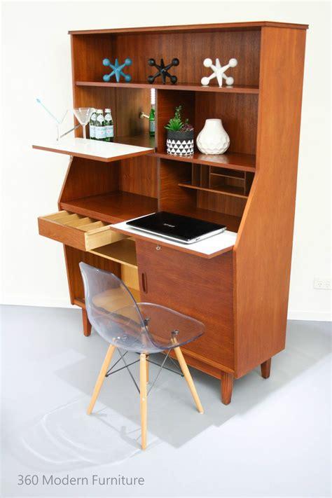 mid century sideboard cocktail bar cabinet desk