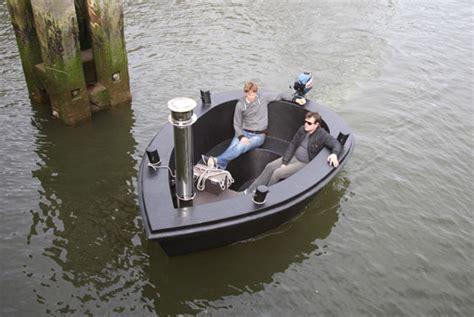 Bathtub Boat by Floating Away In The Hybrid Tug Tub Boat Pursuitist