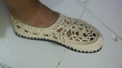 pantuflas hechas a mano zapatos deportivos para damas sandalias tejidas a crochet con suela para adulto paso a paso