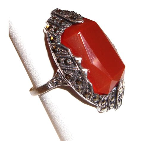 ring deco deco ring sterling silver marcasites from