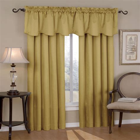 Valances And Curtains eclipse curtains canova blackout drapes and valance set in gold canova blackout drapes and
