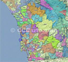 san diego zip codes san diego county zip code boundary map