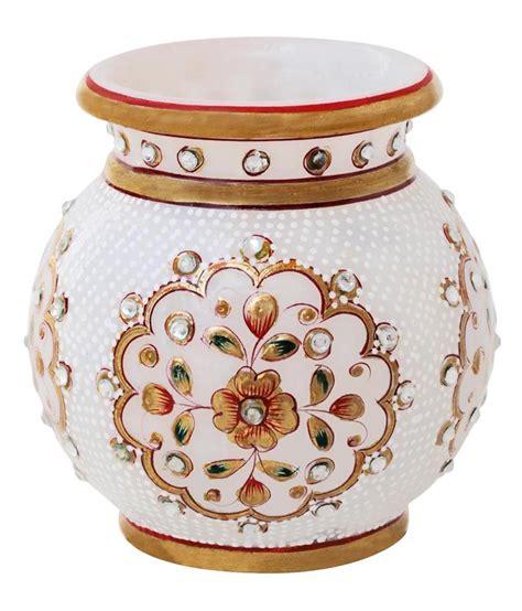 home decor handicrafts marble vases gold painted handicrafts paradise marble table vase 10 buy handicrafts