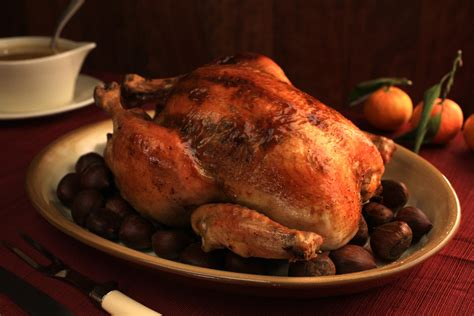 roasted capon with citrus sherry jus recipe chow com
