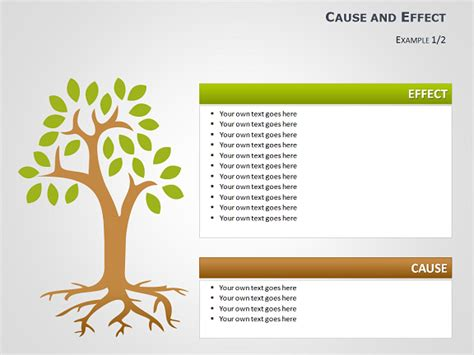 Cause And Effect Tree Diagrams For Powerpoint Powerpoint Tree Diagram